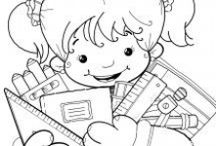 Colouring Pages / Pages with pics for kids to colour