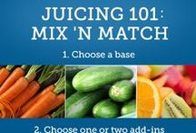 Juice Me Up! / We LOVE juicing when done right. Try some of these yummy combinations.