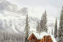Log Cabins / We adore #rustic, #elegant and quaint #logcabins nestled next for vibrant emerald lakes! Everyone needs a little #escapism; here are ours...