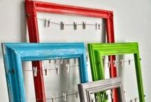 Frames, art, and mirrors! DIY / DIY ideas for reusing framed mirrors, framed art, or just the frames to suit your decor.