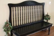 Headboards Repurposed / New uses for headboards in the home and garden! Look for headboards in our Habitat Stores!