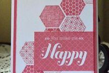 hexagon stamped cards