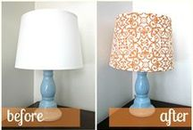 Lamp Shade Re-dos / Give old lamp shades new life! DIY with a lamp from the Habitat Stores!