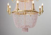 Chandeliers / A glimmering chandelier just makes a room.