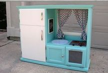 DIY Kids Decor / Cool ideas for projects for kids rooms and decor. DIY with items from our Habitat Stores!