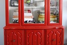 China Cabinet Makeovers / Find a china cabinet in the Habitat Store for a great deal? Here's some ideas on how to give it a makeover!