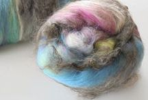 Fiber to Spin & Felt / These are art batts, rolags, locks, hand-painted roving, and hand-painted top to spin and felt. Some are my creations, and some were made by other fiber artists whose work I admire.