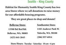Habitat Stores Info. / Here's some information and photos from our local Stores here in King County. Our Stores are located in Bellevue and Tukwila.