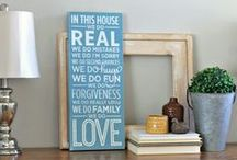 DIY Home Decor / Home Decorating ideas, DIY, and projects you can do with things you find at the Habitat Stores.
