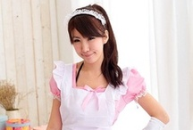 Lolita Barbie Pink Maid Cafe Cosplay Costume / With the use of years unbeaten Koshiro, create a full set of a little like sweet little princess's Kawaii classic maid outfit. Crafted in romantic lace, this dress is the epitome of elegance.   Product contains: Dresses / aprons / head piece (not including other accessories)  ◆ Material: Peach Cotton (no elastic) ◆ Color: Pink ◆ Size: Chest 75-86cm, Waist 68-72cm, the length 74cm, width 37cm.