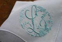 Monogramas bordados/embroidered mongramns / Obviamente voy a tener tiempo de hacer esto con todas mis sabanas, toallas etc.