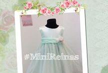 Vestidos para Niñas (Mini Reinas) / Tenemos una hermosa colección de vestidos para bautismos, cortejos, o invitaditas que quieran lucir como Reinitas!