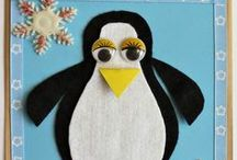 Christmas Penguin Crafts / Christmas penguin crafts for young and old, and even for the not-so-old