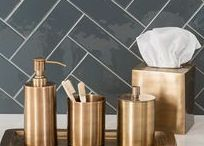 TREND - (Shake Your) Brass / Watch yourself! Can you tell we love brass accessories? It's taking the decor world by storm and it looks just as amazing in your bathroom. Move over Copper! http://soak.com/