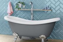 STYLE - Storm Grey / A perfect mix of contemporary and traditional, the limited edition Storm Grey Freestanding bath from soak.com will blend into a multitude of decor schemes but we've turned ours into a modern blue/grey dreamy denim bathroom haven.