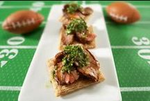 Ready. Set. Tailgate. / Our team of eats includes a lineup of tasty football appetizers and snacks in a snap. With these easy, packable recipes you can make game day about the game not about the kitchen.