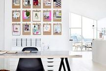 H O M E |  Office / Home Office Design Ideas - Find Decor Inspiration for Your Work Space from Chic Accent Walls, Organization, and Even Small Plants for Your Desk.