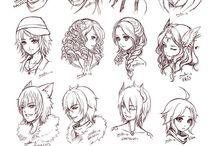 Manga headshots / All kinds of awesome and inspiring design :)