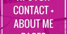 Contact + About Pages Tips / Contact page, About page, how to create a contact page, how to create an about page