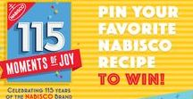 115 Moments of Joy / NABISCO celebrates 115 years! Pin Your Favorite NABISCO recipe for a chance to win $115…winner every day. Learn more at www.Nabisco115Moments.com