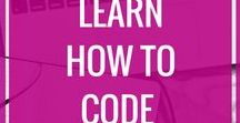 Learn To Code / Learn to code, code for kids, learn coding, learn html, learn css, coding for bloggers, coding tips, code tips, free learning