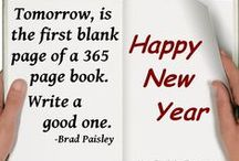 New Years  / New Year's quotes and sayings.