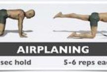 Low Back Strengthening Exercises  / Some basic lower back / core strengthening exercises as part of a rehabilitation regime following an episode of back pain.