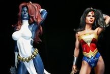 action figures, statues,  dolls, plushies etc... / all kind of nerdy dolls that is not worth playing with but admired!
