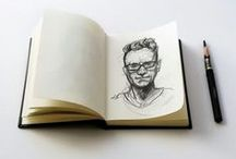 Mini Skechbook- Portrait / #skechbook 5-minute portrait series.To be continued.  Drawing book will be available after the completion offered for sale  Just to keep track of drawings;  İnstagram: @onurbekiroglu