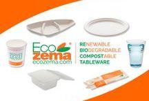 Ecozema Products / Biodegradable & Compostable Tableware by Ecozema Stoviglie biodegradabili e compostabili Ecozema