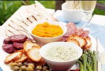Dips & spreads / Dips and spreads are great party food - they can be prepared ahead of time, made in large quantities and be eaten with a variety of crunchy morsels like bread, crostini, crackers, chips and vege sticks. They make perfect snacks or addition to the lunchbox.