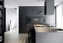 Kitchen in dirrerent grey colors