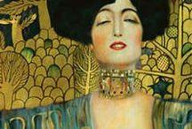 """Kunstwerke (Gustav Klimt) / Gustav Klimt ist gerade überall im Gespräch. Klimts Bild """"Der Kuss"""" hat bereits eine phänomenale Erfolgsgeschichte als Lieblings-Druckvorlage für Möbelhauskunst hinter sich hat und momentan auch als Aufdruck auf einem Straußenei oder als Vorlage für Ausmalbilder erworben werden kann.  Weitere tolle Infos zu diesem Thema gibt es hier: http://www.kunstplaza.de/kuenstler/gustav-klimt-der-goldjunge-aus-wien/"""