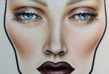 Face Charts / make up