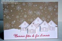 winter cards / winter, stars