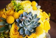 Yellow, Gray, and Metallic / A mix of clean, contemporary, and mid-century influence / by Cathrina Dionisio