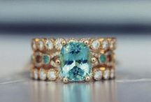 Something Blue / Engagement and wedding rings