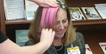 Pink Hair to Show You Care! / MU Health System employees and visitors are rocking pink hair to show their support for Ellis Fischel Cancer Center's Mammography Fund.