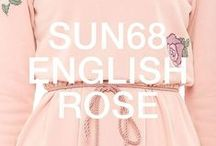 SUN68 ♡ ENGLISH ROSE / The new SUN68 women's collection combines attention to detail and a touch of romance: cute embroidered roses on dresses and shirts, fancy micro-dots coupled to the new palette of pink on sweatshirts and poloshirts, contrast trims applied to the classic jackets.
