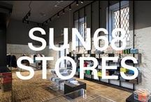 SUN68 STORES / SUN68 currently distributes its product line in eighteen flagship stores located in Italy and through a highly developed network of retailers. The shops of SUN68 are the perfect expression of contemporary Italian design.