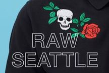 SUN68 ♡ RAW SEATTLE / Skulls, roses and stripes: are you ready for rock 'n' roll? Take a look at this style inspired by Seattle's mood.