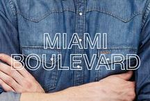 SUN68 ♡ MIAMI BOULEVARD / This board brings you straight to Miami, between palms, cocktails and pool parties. The mix of casual clothes and refined elements makes Miami Boulevard a look suitable for every situation.