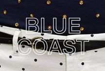 SUN68 ♡ BLUE COAST / All the shades of blue are the main character of this look: Blue Coast is a leap into the elegant atmospheres of the French Riviera. Polka dots and stripes play with vintage inspirations.