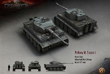 My WOT garage / Tanks that I play in World of Tanks