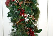 Christmas Holiday Hand Made Decorations / Beautiful hand-made Christmas ornaments, displays and decorations by staff, family, and friends of Paint and Powder Cosmetics