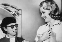 Legendary Hollywood Costume Designer, Edith Head / Edith Head designed and dressed just about every major film and celebrity from the 1930's to the 1980's. She was nominated for 35 Academy Awards for her work, and won 8, the most ever won by a woman.  She also received a Star on the Hollywood Walk of Fame located at 6504 Hollywood Boulevard