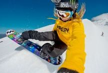 Ladies of Winter / Hello, winter! It's always snow season somewhere! #GoProGirls can shred with the best of them, check out their killer shots for some snow inspiration!  / by GoPro