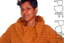 "#Crochet Tunic Sweater / #CROCHET PATTERN DESCRIPTION:  This effortlessly, easy tunic is a fall fashion lover's dream! Screaming style with its deeply draped, oversized cowl neck, 8"" Side slits and below-the-hip length,  you will exude sophistication in this baby.  This versatile tunic can easily transition from day-2-night and worn several different ways for  maximum style options. Great with cotton leggings, boot cut jeans, casual slacks,  jeggings, maxi skirts or just about anything with serious style. / by GuChet"