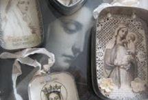 Art, Ave Maria & Spiritual Inspiration / Mary, Mary with Jesus, Saints, Spiritual Inspiration  / by Sue Stolnack