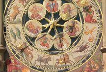 Medieval | horologium / astronomical clock and sundials faces